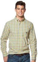 Chaps Big & Tall Plaid Easy-Care Poplin Shirt