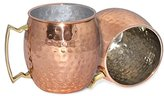 Grandparents Day Gifts for Grandma & Grandpa Set of 2, Copper Beer Mug/Cup 18 oz - Copper Barrel Mug for Moscow Mules - Moscow Mule Gift Set