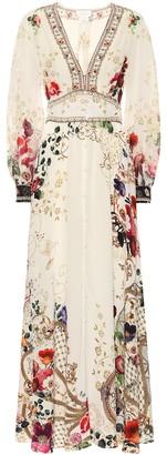 Camilla Floral silk maxi dress