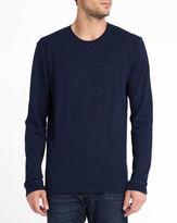 Edwin Blue Denim Marvin Chest Pocket LS T-Shirt