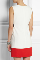 Giambattista Valli Color-block stretch-cady mini dress