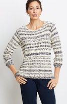 J. Jill Cozy-Texture Striped Pullover