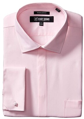 Stacy Adams 39000 Solid Dress Shirt (White) Men's Clothing