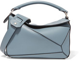 Loewe Puzzle Small Textured-leather Shoulder Bag - Blue
