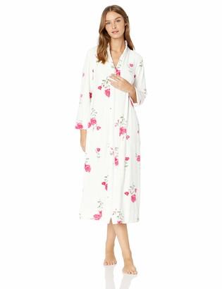 Carole Hochman Women's Luxe Velour Long Zip Robe
