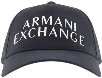 Armani Exchange Logo Baseball Cap Navy
