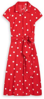 Zenggi Red Long Shirt Dress - s