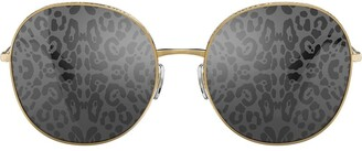 Dolce & Gabbana Eyewear Leopard Print Lens Sunglasses