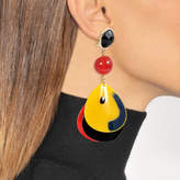 Giorgio Armani Plexi Ball Shape Earrings in Multicolour Acetate
