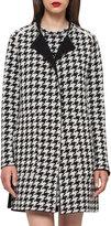 Akris Reversible Houndstooth Cashmere Coat, Black/Moonstone