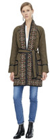 Rebecca Taylor Pickstitch Cotton Embroidered Coat