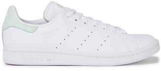 adidas Stan Smith Smooth And Snake-effect Leather Sneakers