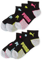 Puma 6-Pack Black Quarter-Cut Socks