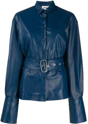 Each X Other vegan leather oversized jacket