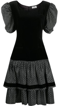 Valentino Pre-Owned 1980s Puffed Sleeves Ruffled Dress