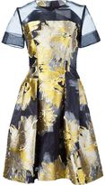 Carolina Herrera floral jacquard mini dress - women - Acetate - 4