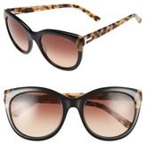 Ted Baker Women's 56Mm Cat Eye Sunglasses - Light Purple/ Black