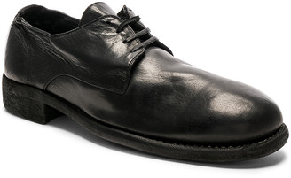 Guidi Full Grain Leather Donkey Classic Derbies in Black | FWRD