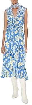 Jason Wu Silk Floral Print Midi Dress