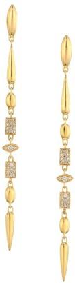 Etho Maria Noble 18K Yellow Gold & Brown Diamond Drop Earrings