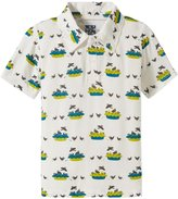 Kickee Pants Print Polo (Toddler/Kid) - Four/Twenty Blackbirds - 2T
