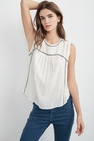 Asera Embroidered Sleeveless Top