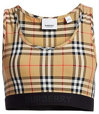 Burberry Dalby Check Print Bra