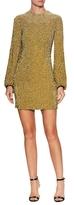 Jenny Packham Silk Embellished Mini Dress