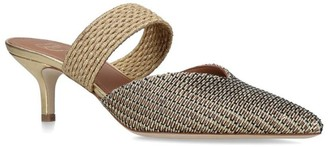 Malone Souliers Woven Metallic Maisie Mules 45