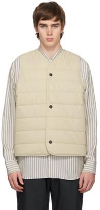 Studio Nicholson Off-White Chaud Quilted Liner Vest