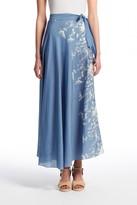 PEPIN Sylvie Printed Chambray Wrap Skirt