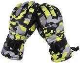 SUM -22 Degree F Mens Cold Weather Waterproof Glove Magic Stretch Camo Winter Warm Ski Gloves (XL, )