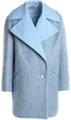Nina Ricci Double-breasted Brushed Woven Coat