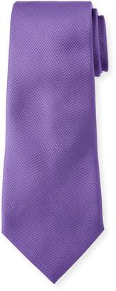 Ermenegildo Zegna Solid Silk Twill Tie, Purple