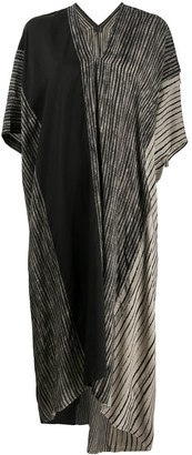 Masnada Contrast Panel Striped Beach Dress