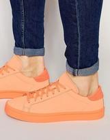 Adidas Originals Court Vantage Adicolor Trainers In Orange S80257