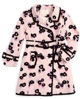 Kate Spade Girl's Topliner Double Breasted Trench Coat
