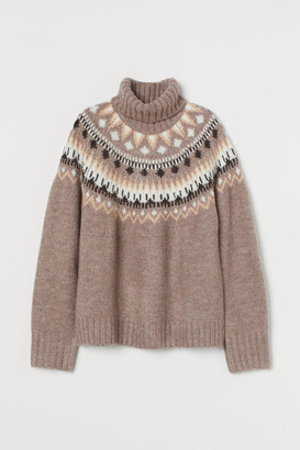 H&M Jacquard-knit Turtleneck