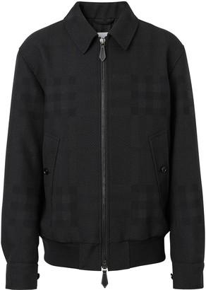 Burberry check-print Harrington jacket