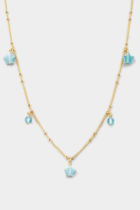 francesca's Saige Star Drops Choker - Light Blue