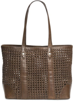 Frye Melissa Woven Leather Shopper