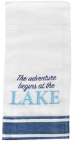 'Adventure Begins at the Lake' Embroidered Dish Towel