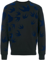 McQ by Alexander McQueen Swallow print sweater - men - Cotton/Polyester - S