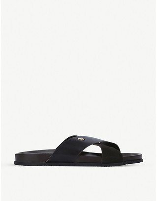 Kurt Geiger Logan cross-strap leather sandals