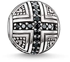 Thomas Sabo Women Men-Bead Hero Karma Beads 925 Sterling Silver blackened Zirconia black K0030-051-11