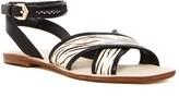 Nicole Miller Raf Genuine Pony Fur Ankle Strap Sandal