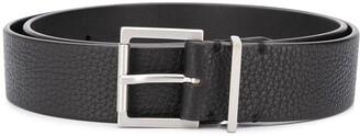 Maison Margiela Signature White Stitch Detail Buckle Belt