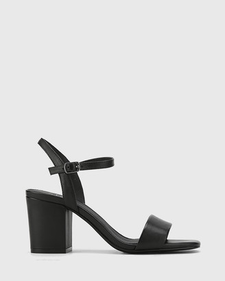 Wittner - Women's Black Sandals - Collin Leather Block Heel Ankle Strap Sandals - Size One Size, 40 at The Iconic
