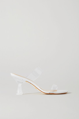 Stuart Weitzman Kristal Pvc And Leather Mules - Clear