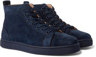 Christian Louboutin Louis Suede High-Top Sneakers